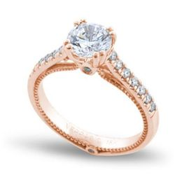 "Verragio and Kranich's Jewelers ""Love Is"" Engagement Ring Rose Gold"