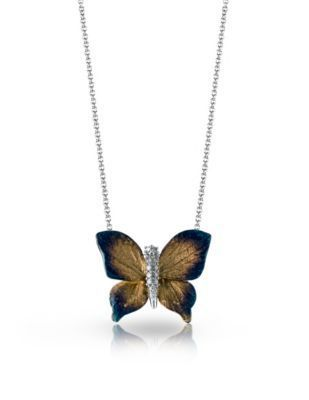 Organic Allure Diamond Butterfly Pendant by Simon G