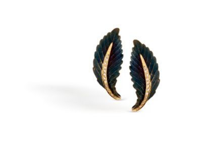 Simon G Organic Allure Leaf Fashion Earrings