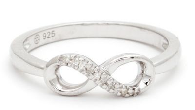 Micro Pave Diamond Infinity Ring