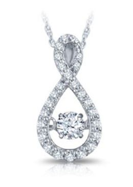 Heartbeat Diamond Pendant In White Gold