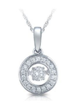 Dazzling Heartbeat Diamonds Fashion Pendant