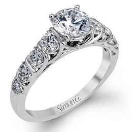 Classically Modern Simon G. Engagement Ring