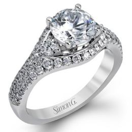 Stunning White Diamond Engagement Ring From Simon G.