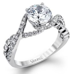 Striking Simon G. Engagement Ring
