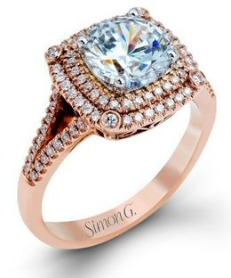 Exquisite Simon G. Ring in Rose Gold