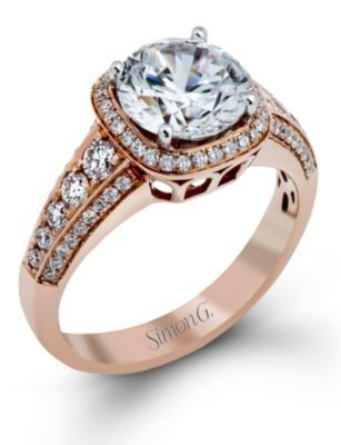 Stunning Rose Gold Simon G. Ring