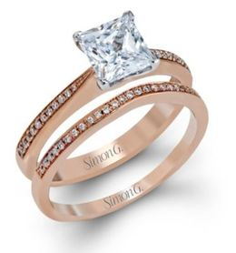 Elegant Simon G. Engagement Ring & Band