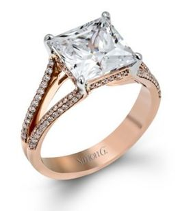 Glamorous Simon G. Split Shank Diamond Ring