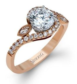 Stylish Simon G. Engagement Ring