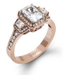 Alluring Simon G. Engagement Ring