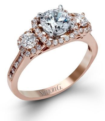 Sophisticated Simon G. Engagement Ring