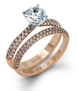 Classic Simon G. Engagement Ring & Band