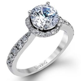 Romantic 18K Simon G. Engagement Ring
