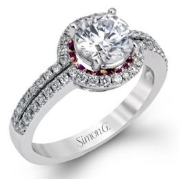 Flawless Simon G. Engagement Ring