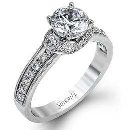 Romantically Stunning Simon G. Engagement Ring