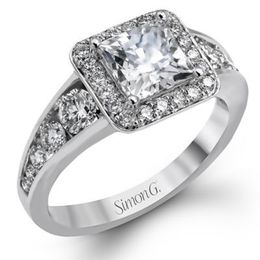 Captivating Simon G. Engagement Ring