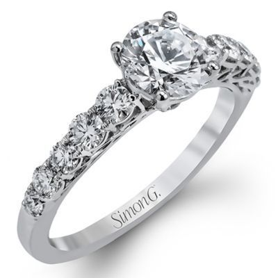 Elegant Simon G. Engagement Ring