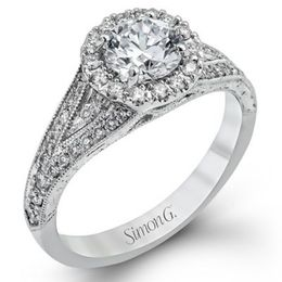 Stunning 18K Simon G. Engagement Ring