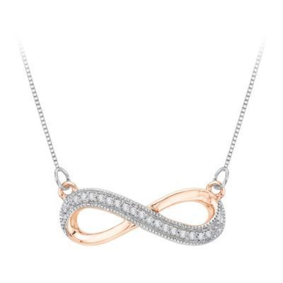 Sparkling Diamond Infinity Pendant in Rose Gold