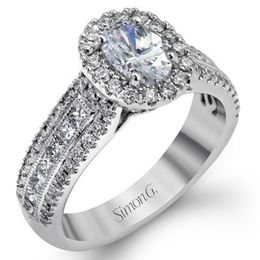 Lovely Simon G. Engagement Ring