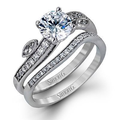 Gorgeous Simon G. Engagement Ring & Band