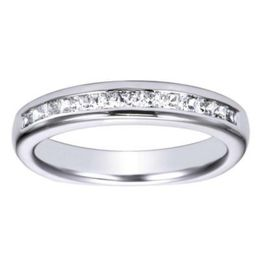 14K White Gold Polenza Wedding Band