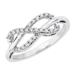 10K White Gold Infinity Ring