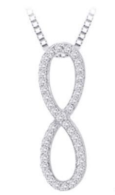 Chic Diamond Infinity Pendant