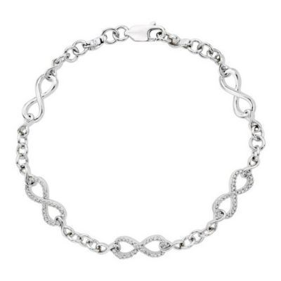 Stunning Infinity Fashion & Diamond Bracelet