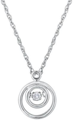 Stylish Heartbeat Diamonds Pendant
