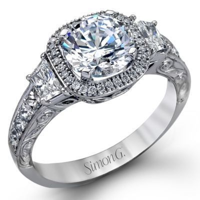 Romantic Vintage Engagement Ring By Simon G.
