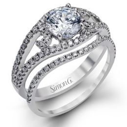 Gorgeous Modern Simon G. Engagement Ring