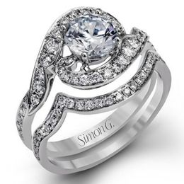 Stunning & Modern 18K Simon G Engagement Ring