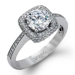 Classic Simon G Diamond Engagement Ring