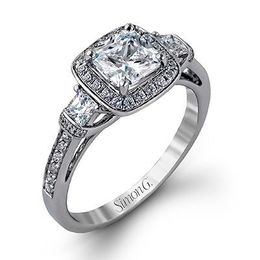 Breathtaking Simon G Diamond Engagement Ring