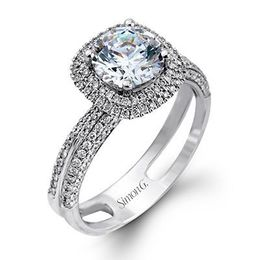 Radiant 18K Simon G Engagement Ring