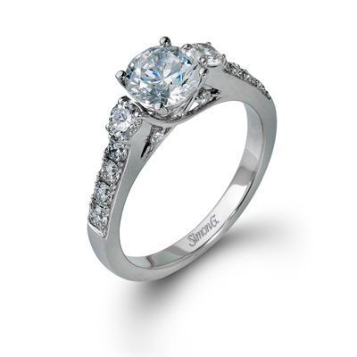 Gorgeous Three Stone Simon G Engagement Ring