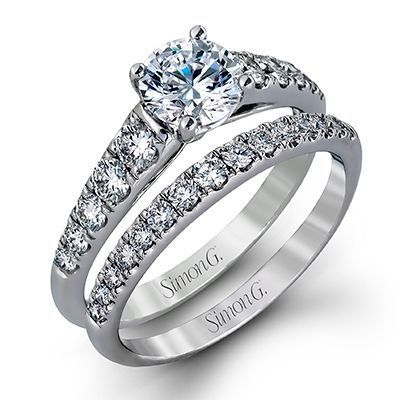 Sparkling Simon G Engagement Ring & Wedding Band