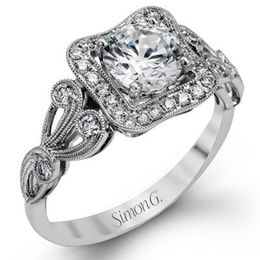 Romantic & Vintage Simon G Engagement Ring