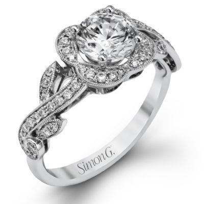 Stylish Vintage Simon G Engagement Ring