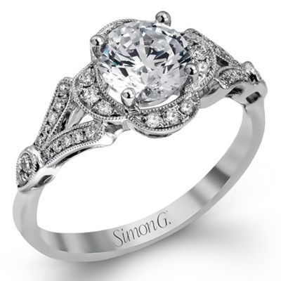Elegant & Romantic Simon G Engagement Ring