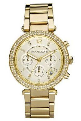 Golden Stainless Steel Watch By Michael Kors MK5354