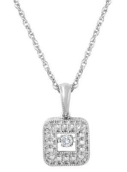 Elegant Heartbeat Diamonds Pendant