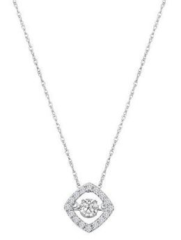 Exquisite Heartbeat Diamond Pendant