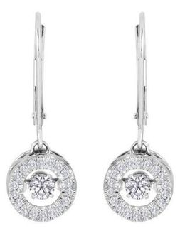 Sparkling Heartbeat Diamond Earrings
