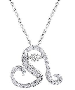 Gorgeous 'Steal Her Heart' Heartbeat Diamond Pendant