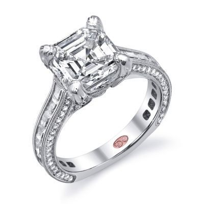 Alluring Demarco Asscher Diamond Engagement Ring