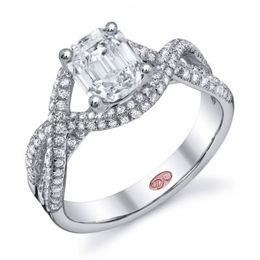 Fashionable Diamond Engagement Ring By Demarco