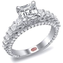 Radiant Engagement Ring By Demarco